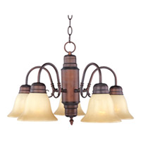 Maxim Lighting Builder Basics 5 Light Down Light Chandelier in Oil Rubbed Bronze 91197WSOI