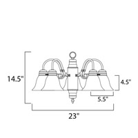 Maxim Lighting Builder Basics 5 Light Down Light Chandelier in Satin Nickel 91197MRSN alternative photo thumbnail