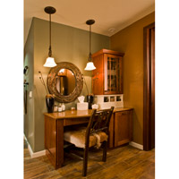 Maxim Lighting Oak Harbor 1 Light Mini Pendant in Rustic Burnished 92060FLRB alternative photo thumbnail