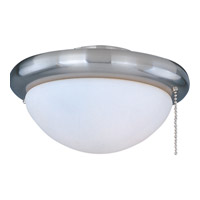 Maxim Lighting Basic-Max 1 Light Ceiling Fan Light Kit in Satin Nickel FKT206SN