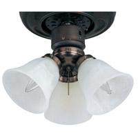 Maxim FKT207FTOI Basic-Max 3 Light Incandescent Oil Rubbed Bronze Ceiling Fan Light Kit