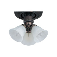 Maxim Lighting Basic-Max 3 Light Ceiling Fan Light Kit in Oil Rubbed Bronze FKT207OI