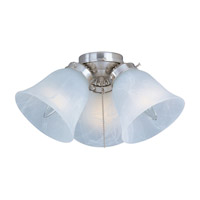 Maxim Lighting Basic-Max 3 Light Ceiling Fan Light Kit in Satin Nickel FKT207SN