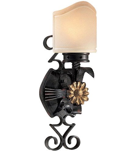 Metropolitan Montparnasse 1 Light Sconce in French Black w/Gold Highlights N2101-20 photo