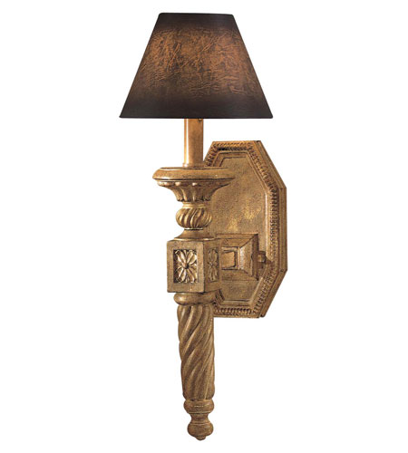 Metropolitan Pamplona 1 Light Wall Sconce in Aged Wood w/Gold Highlights N2141-34 photo
