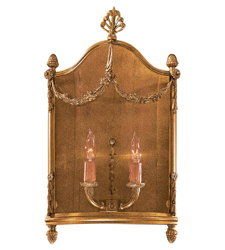 Metropolitan Signature 2 Light Sconce in Antique French Gold N2310 photo