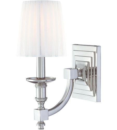 Metropolitan Signature 1 Light Sconce in Polished Nickel N2641-613 photo