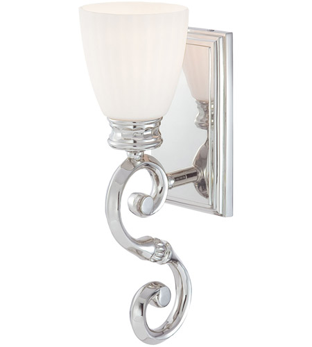 Metropolitan N2801-613 Signature 1 Light 5 inch Polished Nickel over a Solide Brass Frame Bath Wall Light photo