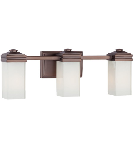 Metropolitan Signature 3 Light Bath in Dark Brushed Bronze N2813-267 photo