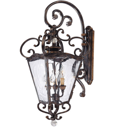 Metropolitan N3247-270 Signature 3 Light 14 inch Terraza Village Aged Patina/Gold Leaf Outdoor Lantern photo