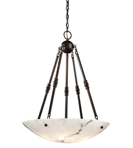 Metropolitan N3605-BP Signature 5 Light 27 inch Bronze Patina Pendant Ceiling Light photo