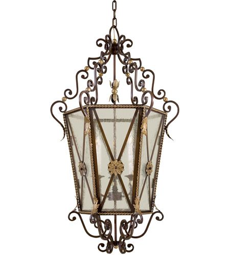Metropolitan N3640-301 Signature 3 Light 27 inch Castlewood Walnut/Silver Foyer Pendant Ceiling Light photo