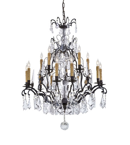 Metropolitan Metropolitan Family 15 Light Chandelier in Patina Bronze N561C-BZ photo