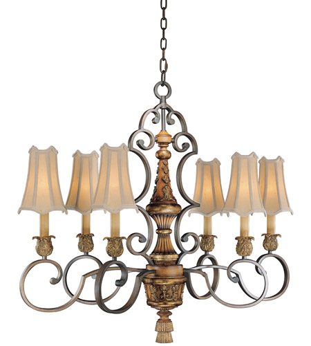 Metropolitan Habana Nights  6 Light Chandelier in Habana Night w/Gold Highlights  N6007-476 photo