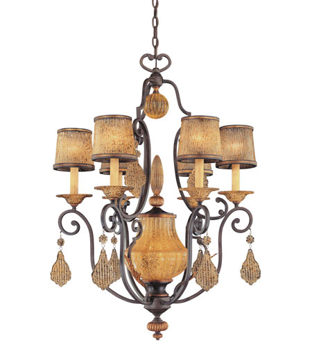 Metropolitan Monte Titano  7 Light Chandelier in Monte Titano Oro N6030-159 photo