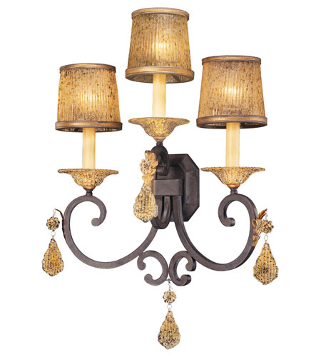 Metropolitan Hearst Castle 3 Light Wall Sconce in Monte Titano Oro N6048-159 photo