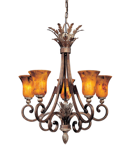Metropolitan Gran Canaria 5 Light Chandelier in Cartouche Bronze N6055-265 photo