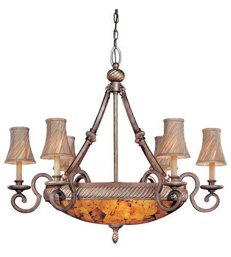 Metropolitan Gran Canaria 9 Light Chandelier in Cartouche Bronze N6060-265 photo