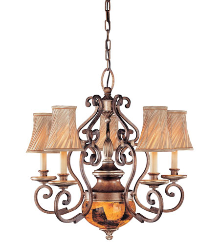 Metropolitan Gran Canaria 6 Light Chandelier in Cartouche Bronze N6061-265 photo