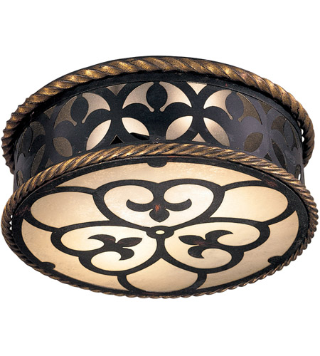 Metropolitan N6109-20 Montparnasse 2 Light 16 inch French Black/Gold Leaf Flush Mount Ceiling Light photo