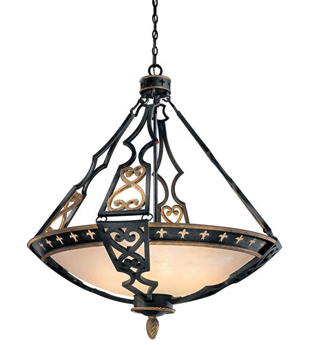 Metropolitan Montparnasse 10 Light Pendant in French Black w/Gold Highlights N6114-20 photo