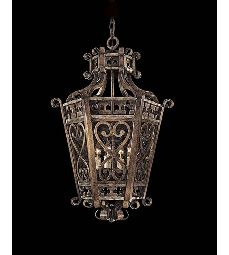 Metropolitan Montparnasse French Black 4 Light Foyer Chandelier in Tuscan Patina N6115-196 photo
