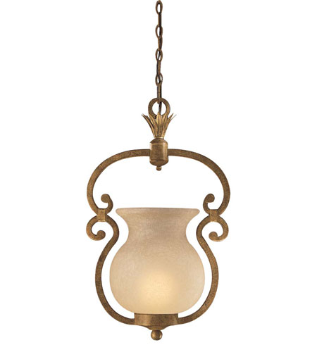 Metropolitan Pamplona 1 Light Pendant in Aged Wood w/Gold Highlights N6131-34 photo