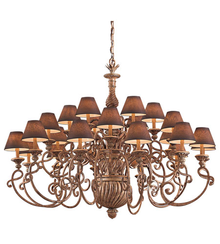 Metropolitan Pamplona 24 Light Chandelier in Aged Wood w/Gold Highlights (shade sold separately) N6137-34 photo