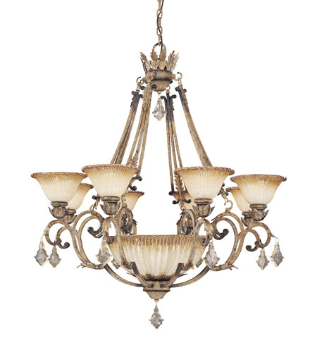 Metropolitan Torretta 8 + 1 Light Chandelier in Venata di Sabbia N6168-285 photo
