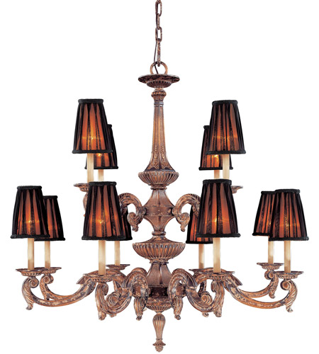 Metropolitan Mariner 12 Light Chandelier in Amaretto Patina w/Silver Highlights N6188-473 photo