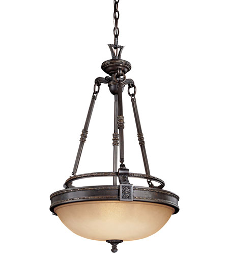 Metropolitan Catalonia 3 Light Pendant in Aged Bronze N6201-26 photo