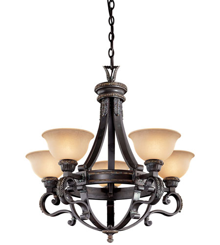 Metropolitan Catalonia 5 Light Chandelier in Aged Bronze N6205-26 photo