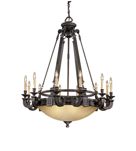 Metropolitan Catalonia 12 + 6 Light Chandelier in Aged Bronze N6212-26 photo