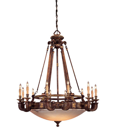 Metropolitan Catalonia II  18 Light Chandelier in Aged Walnut w/Gold Leaf Highlights N6212-488 photo