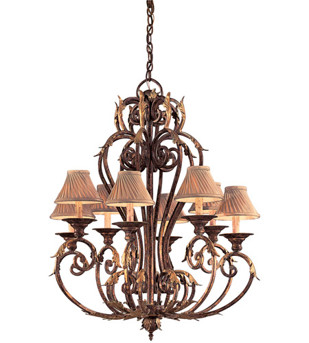 Metropolitan Zaragoza 8 Light Chandelier in Golden Bronze (shade sold separately) N6238-355 photo