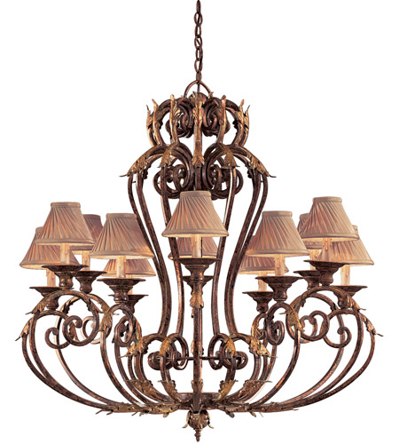 Metropolitan Zaragoza 12 Light Chandelier in Golden Bronze (shade sold separately) N6239-355 photo