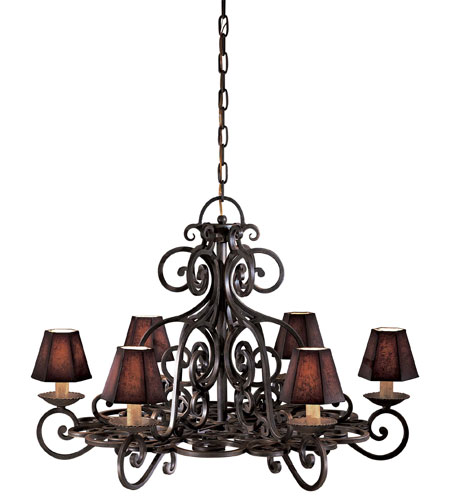 Metropolitan N6311-BF Castile 6 Light 38 inch Black Forest Chandelier Ceiling Light photo