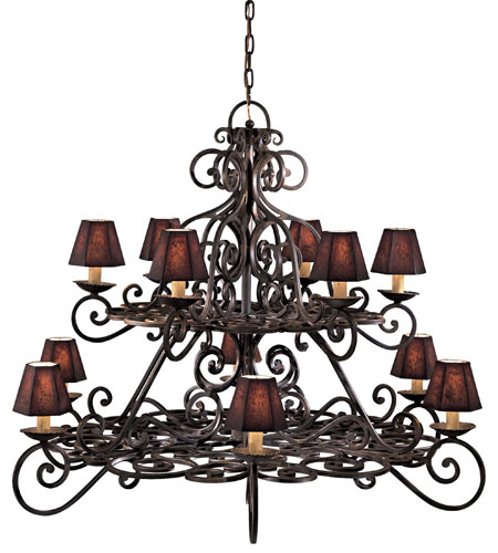 Metropolitan Signature 12 Light Chandelier in Black Forest (shade sold separately) N6312-BF photo
