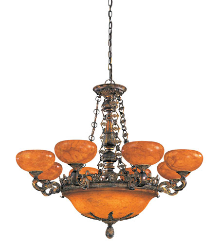 Metropolitan Tarragova 13 Light Chandelier in Tarragova Bronze N6398-475 photo