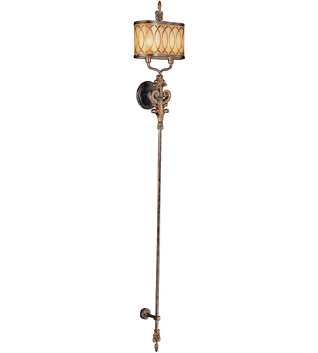 Metropolitan Terraza Villa 2 Light Torchiere in Terraza Villa Aged Patina w/ Gold Leaf Accents N6482-270 photo