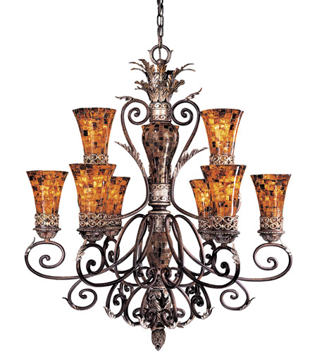 Metropolitan Salamanca 9 Light Chandelier in Cattera Bronze N6518-468 photo