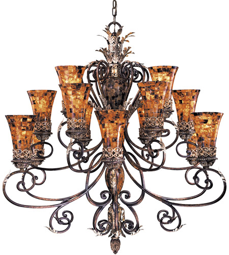 Metropolitan Salamanca 15 Light Chandelier in Cattera Bronze N6519-468 photo