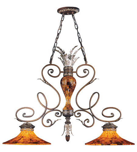 Metropolitan Salamanca 2 Light Island Light in Cattera Bronze N6524-468 photo