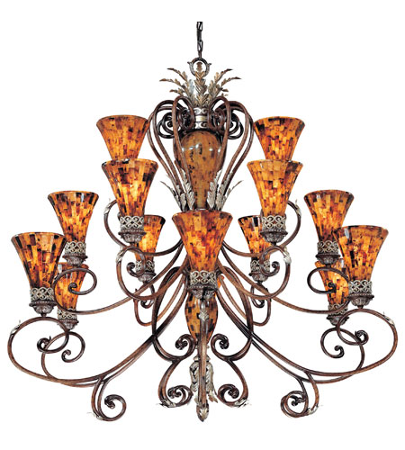 Metropolitan Salamanca 15 Light Chandelier in Cattera Bronze N6526-468 photo