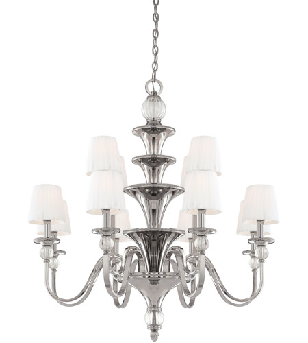 Metropolitan N6611-613 Aise 12 Light 39 inch Polished Nickel Chandelier Ceiling Light photo