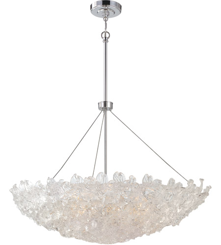 Metropolitan N6632 77 Bella Fiori 10 Light 37 Inch Chrome Pendant Ceiling