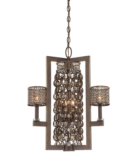 Metropolitan N6722-258 Signature 6 Light 22 inch French Bronze with Jeweled Accents Pendant Ceiling Light photo