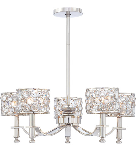 Metropolitan Magique  5 Light Chandelier in Polished Nickel N6754-613 photo