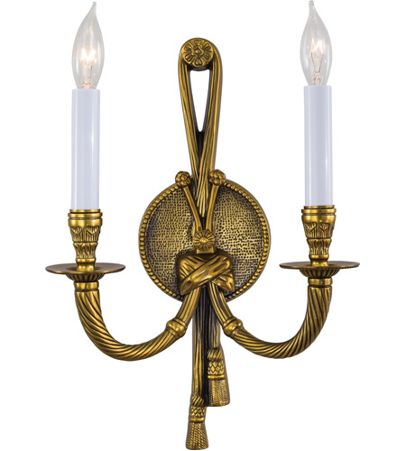 Metropolitan Signature 2 Light Sconce in French Gold N681B photo