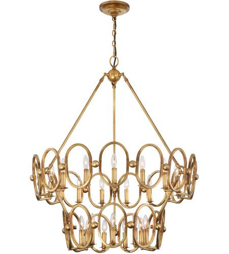 metropolitan n6889 293 clairpointe 24 light 38 inch pandora gold leaf chandelier ceiling light